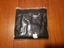 APPLE T shirt authentic on Hanes beefy - size Large black NEW computer logo mac