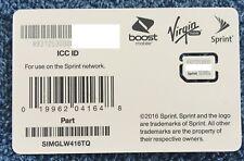 Sprint Nano sim Card iPhone Xs, iPhone Xs Max, iPhone Xr Simglw416Tq
