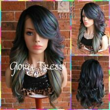 Curly Lace Front Wig, Ombre Oil Slick Rainbow Hair, Unicorn Haircolor