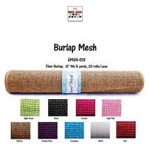 Faux Imitation (Non Furry) Fiber Burlap Mesh Roll GiftWrap Table Overlay Fabric