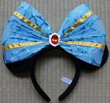 Tokyo DisneySea 15th Anniv HEAD ACCESSORY MINNIE EAR  blue bow red stone adult