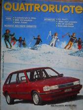 Quattroruote 338 1983 Alfa33 giardinetta.Fiat UnoGT.Honda Prelude