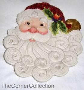 FITZ & FLOYD SANTA CANAPE PLATE or DEOCRATIVE WALL PLATE