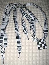 Premium Flat Black&White Piano Keyboard Rockabilly Punk Shoe laces Shoelaces-New