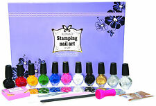 Konad Nail Art Set A- 10 special stampings colours and 10 design image plates