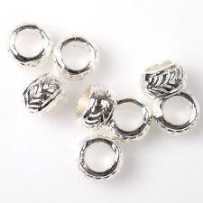 100pcs 152674 Bangle Style Charms Silver Tone Alloy Beads Fit European Bracelet