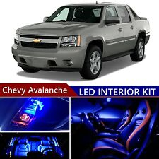 15 pcs LED Blue Light Interior Package Kit for Chevy Avalanche 2007-2013