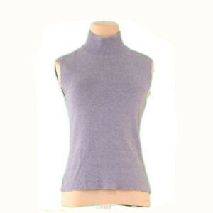 FOXEY knit Cotton1% Grey Woman Authentic Used L2243