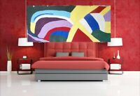 Extra Large abstract art painting original over size contemporary canvas signed