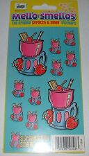 Vtg 2003 Scratch & N' Sniff STRAWBERRY Scented Stickers~New Sheet~MELLO SMELLO