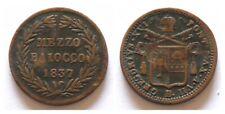 Stato Pontificio - Gregorio XVI - Mezzo Baiocco 1837 Bologna