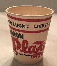 Vintage Union Plaza Hotel Casino Paper Coin Cup Rare