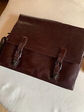 Kenneth Cole New York Brown Leather Briefcase Portfolio Business Messenger