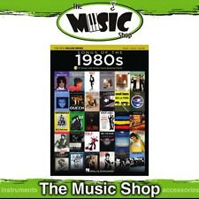 New Songs of the 1980s PVG Music Book with OLA - Piano, Vocal, Guitar