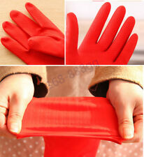 38cm Long Kitchen Washing Gloves Waterproof Glove Rubber Latex Dish Cleaning