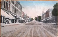 Chesley, Ontario, Canada 1910 Postcard: Main Street / Downtown - Ont.