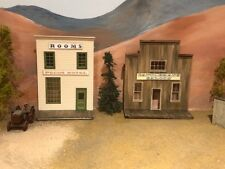 Branline Structures (2) Backdrop Kits Pecos Hotel & Cattlemans Saloon O On3 On30