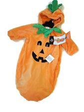 Pumpkin Infant Halloween Costume Bunting Sack Hood Baby size 0-6 months