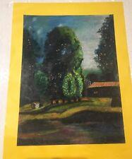 """Peinture """"Paysage de Montagne"""" Jeune Artiste Peintre Française """"DAVESNE"""""""