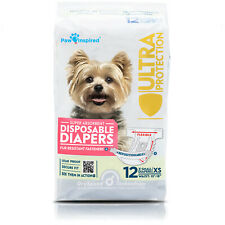 12ct Paw Inspired Dog Diapers Disposable for Female Doggie Puppy in Heat Period