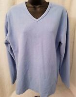 French Dressing Womens Blue Fleece Shirt Top Blouse Size PM