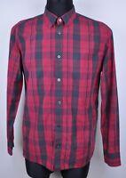 LEVIS STRAUSS Western Classic Funnel Button Up Shirt Men's Medium Cotton M Red