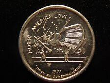 1971 Krewe Of Freret Mardi Gras Music America Loves Aluminum Token! Xx539Uxx
