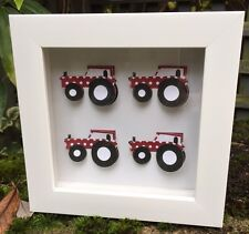 CHILDRENS TRACTOR PICTURE RED FARM FREESTANDING OR HANGING