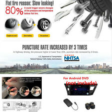 Car TPMS Wireless Tire Pressure Alarm System 4 External Sensors For Android DVD