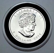 2011 Canadian Maple Leaf,1 oz Fine Silver  .9999 Bullion 5 Dollars, UNC