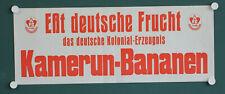 altes orig Plakat Esst deutsche Frucht aus Übersee Kamerun Bananen Marke AFC