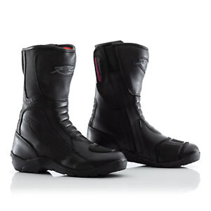 RST Tundra Motorcycle Motorbike CE Approved Ladies Waterproof Boots - Black