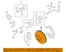 PORSCHE OEM 08-10 Cayenne Front Brake-Disc Rotor 95535140241