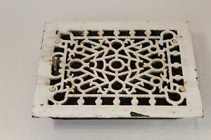 Antique Victorian Register Heating Grate Vent #51 Cast Iron Scrolls Rectangular