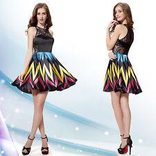 Regular Size Geometric Empire Waist Casual Dresses for Women