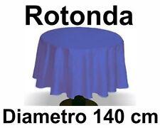 Tovaglia Rotonda 100% Cotone diametro 140 cm Tinta Unita Sirge Vari Colori