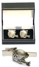 American Football Cufflinks & Tie Clip Bar Tack Slide Set Mens Players Fans Gift
