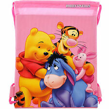 Disney Winnie The Pooh Pink Drawstring Bag School Backpack