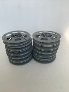 Kodak Empty Gray Plastic Film Reel'S 12 Used~~ Made in USA