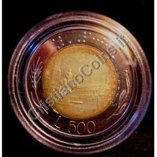 500 Lire Bimetallico 1985  Proof Fondo Specchio