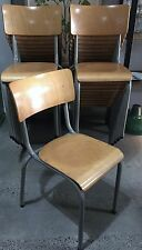 DINING CHAIRS DANISH PLYWOOD STACKING VINTAGE- CAFE/ RESTAURANT/ HOME/ STYLING
