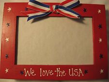 Fourth of July 4th of July Americana patriotic military picture photo frame