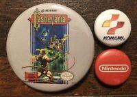 CASTLEVANIA / Konami Collectible Pins Buttons Badge NEW! Nintendo NES Retro Game