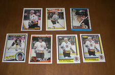 7 BOSTON BRUINS RAY BOURQUE HOCKEY CARDS - DIFFERENT