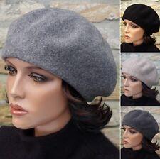 Damenmütze Wintermütze Baske Baskenmütze Cap Fugger 100% Wolle Walkwolle Filz