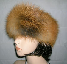 NEW NATURAL RED FOX FUR HEADBAND NECK WRAP SCARF