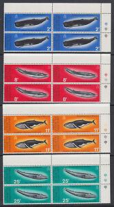British Antarctic Terr Sc 64-67 MNH. 1977 Whale Conservation, corner blocks of 4