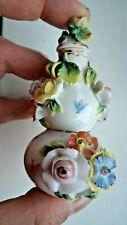 19TH CENTURY c1880 DRESDEN / SITZENDORF PORCELAIN INSECT & FLOWER SCENT BOTTLE