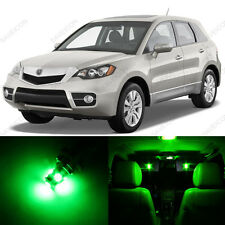10 x Green LED Interior Lights Package For 2007 - 2011 Acura RDX + PRY TOOL