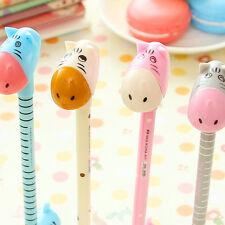 5Pcs Fashion Cute Cartoon Deer Giraffe Donkey Ball Pens Office School Stationery